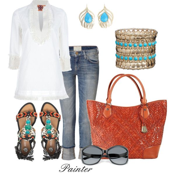 Love the colors!Fashion, Style, Clothing, Bracelets, Outfit, Summer, Optical Weaving, Spring Summe, Earrings