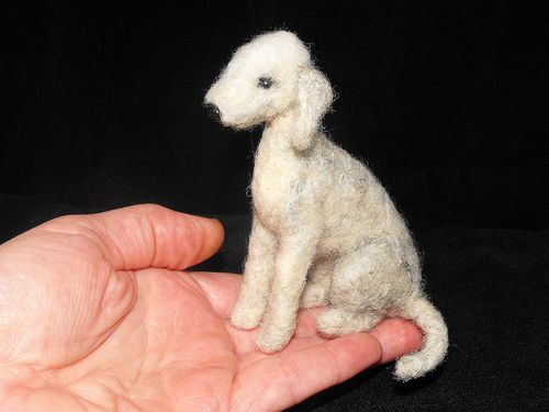 needle felted  bedlington terrier by adore62, via Flickr