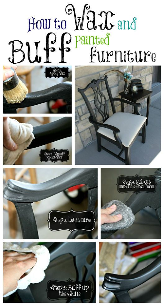 Waxing and Buffing Black Painted Furniture to a Beautiful Shine! :: Hometalk