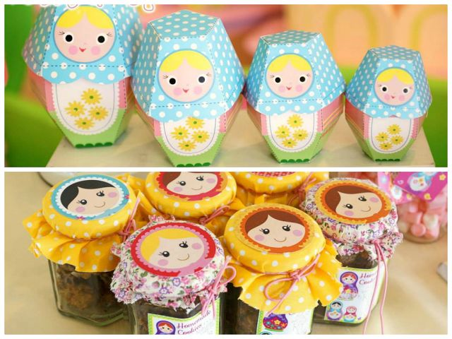 Matryoshka for Kelly's 10th Birthday by Cupcakes Moments | Party Inspirations