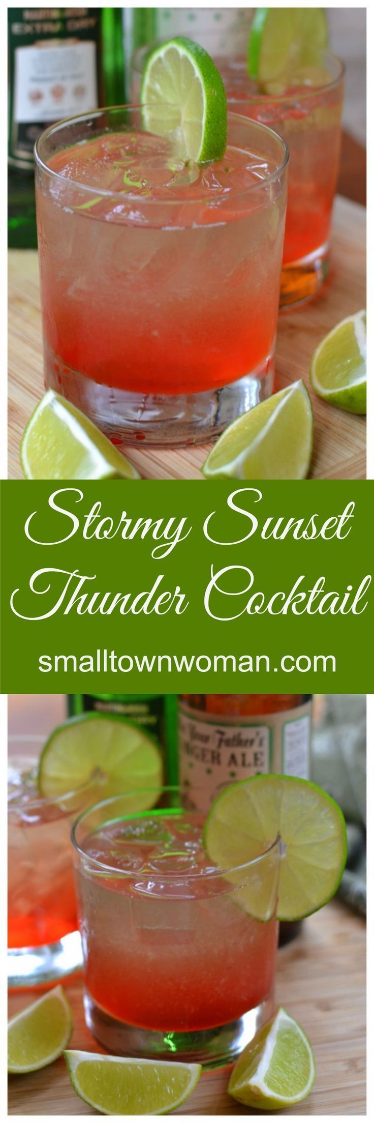 This beauty is a twist between the Dark & Stormy Cocktail and the Stormy Sunset Cocktail.