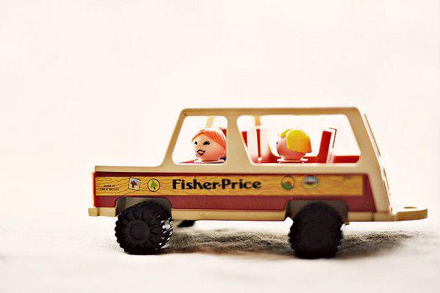 Vintage Little People Wagon