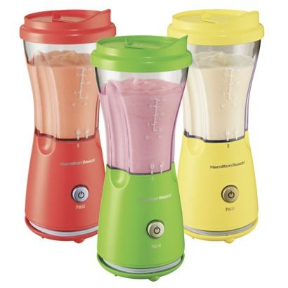 Add some color to your registry with these single serving blenders.