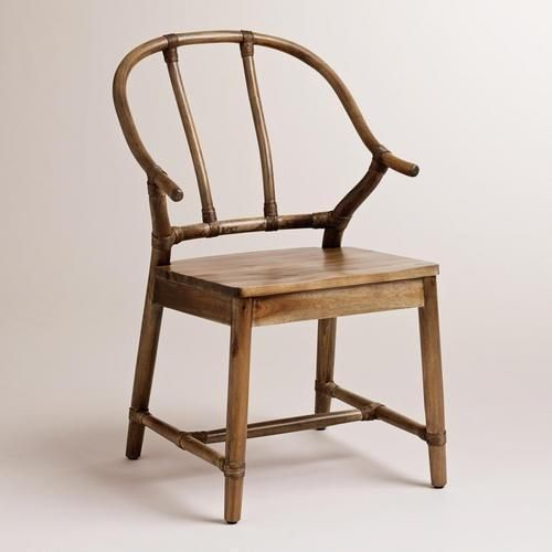 Comfortable Kitchen Chairs: Natural Bowen Wishbone Chair. So Sculptural. But