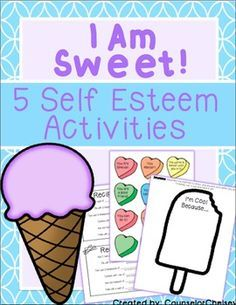 """5 """"sweet"""" self-esteem activities to help students learn about their strengths, celebrate differences, and use positive self talk!"""