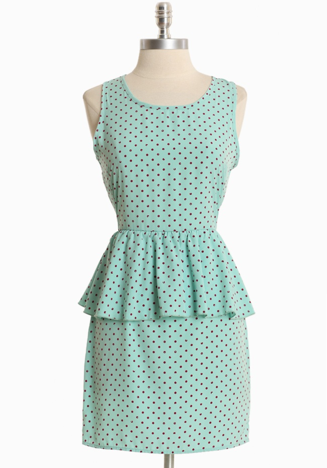 Miss Heartbreaker Polka Dot Dress  Absolutely in love with peplum style dresses!