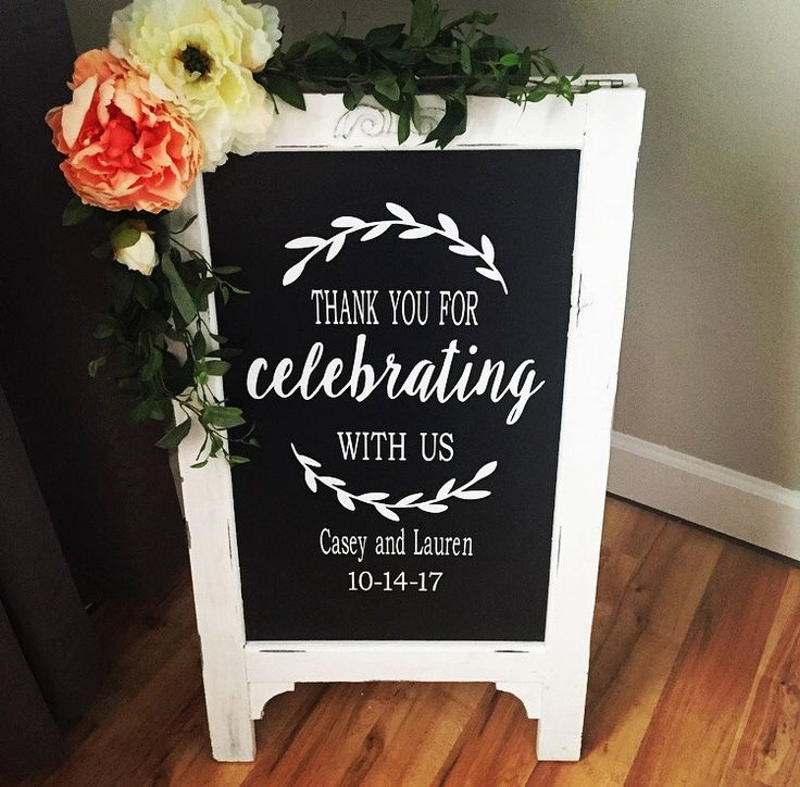 sample thank you letter for wedding shower gift%0A Thank You For Celbrating Wedding Chalkboard Easel Chalkboard Sign Wedding  Sign Bridal Shower Sign Wedding Sign Wedding Decor Aisle Decor