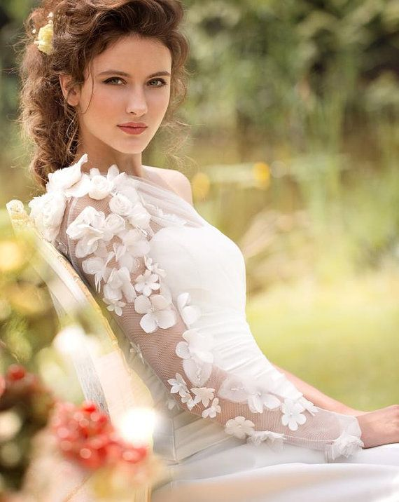Wedding dress Designer Wedding Gown Bohemian by MariStyleCouture, $1100.00