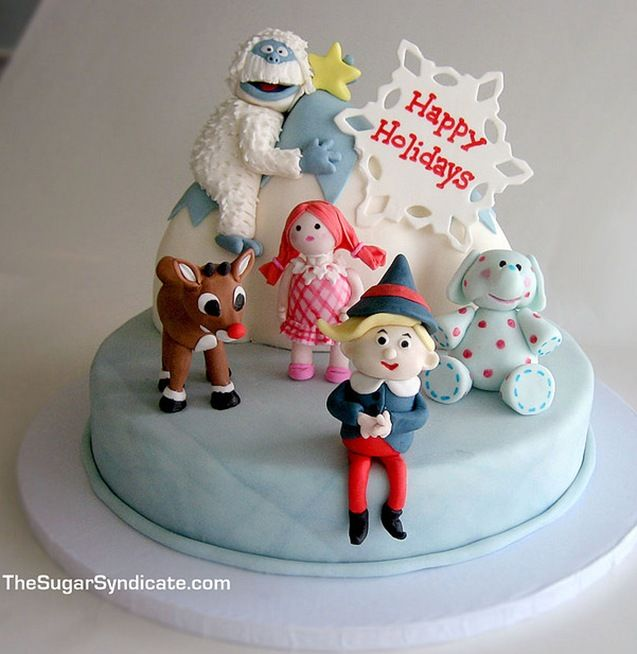 Rudolph On The Island Of Misfit Toys Cake