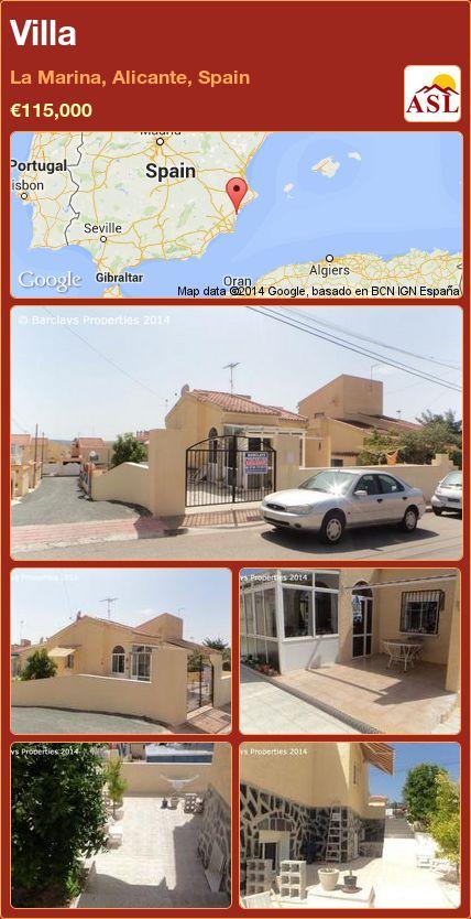 Villa in La Marina, Alicante, Spain ►€115,000 #PropertyForSaleInSpain