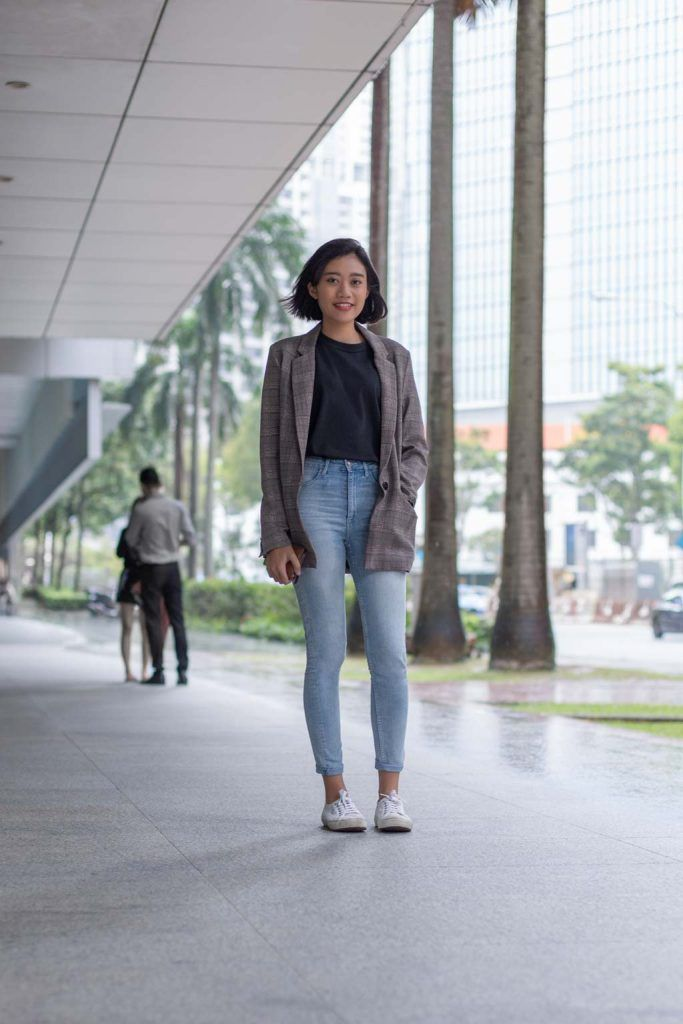 SHENTONISTA: There For You. Naz, Producer. Top from Uniqlo, Jeans from H&M, Shoes from Superga, Blazer from Bershka, Watch from Bering. #shentonista #theuniform #singapore #fashion #streetystyle #style #ootd #sgootd #ootdsg #wiwt #popular #people #male #female #womenswear #menswear #sgstyle #cbd #Uniqlo #HM #Superga #Bershka #Bering