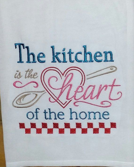 Wondrous Dish Towel Flour Sack The Kitchen Is The Heart Of The Download Free Architecture Designs Sospemadebymaigaardcom