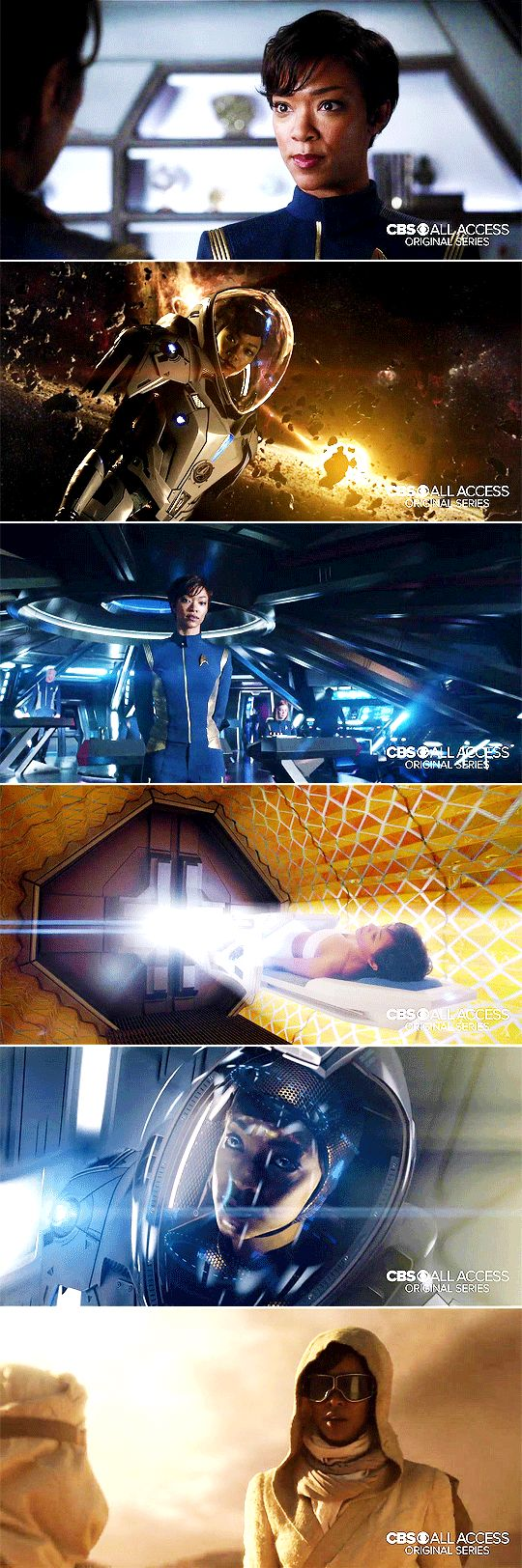 Sonequa Martin-Green as Michael Burnham in the Star Trek: Discovery Trailer