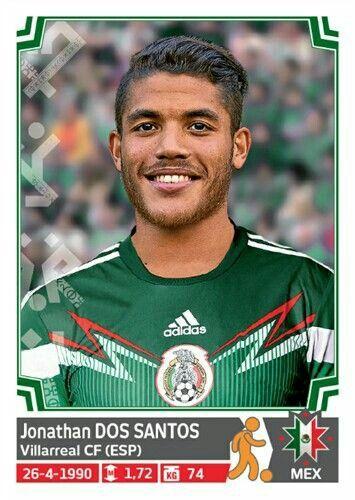 Jonathan Dos Santos of Mexico. Copa America 2015 card.