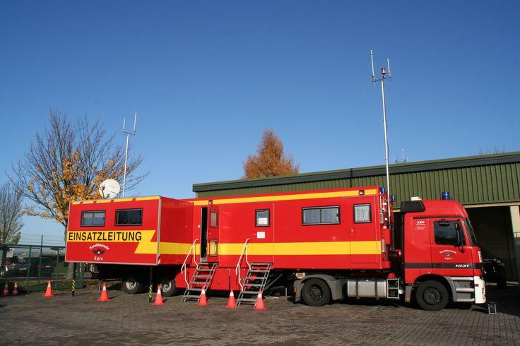 Mobile Vernetzung eines Einsatzleitsattelzugs
