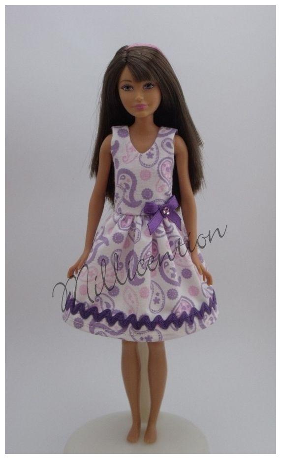 Pastel paisleySkipper doll dress