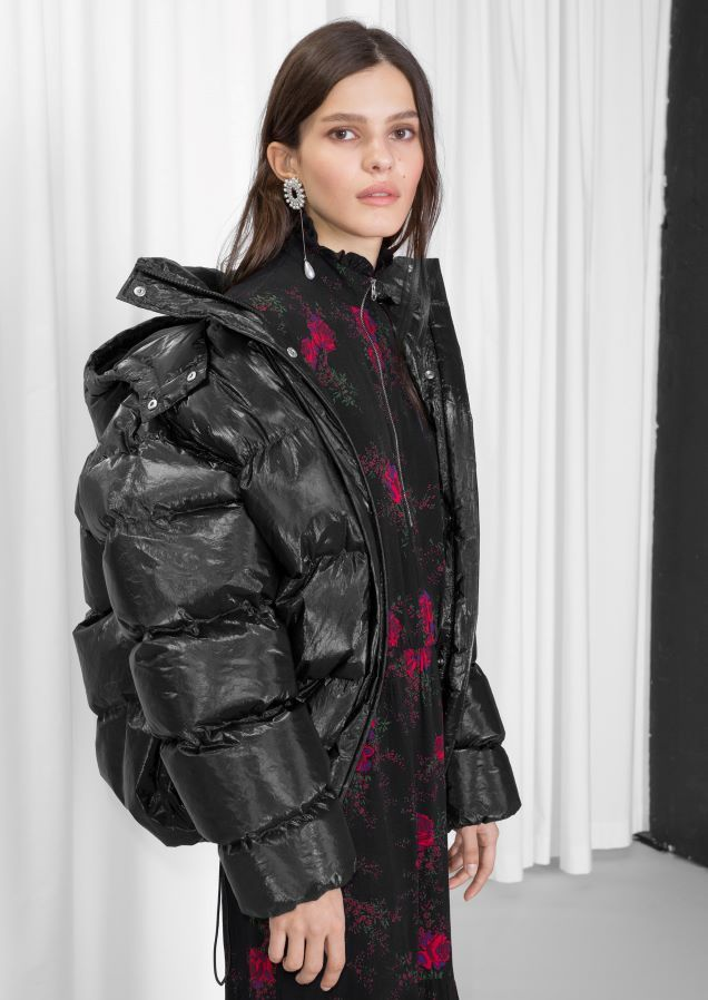dd0804c72f5   Other Stories image 1 of Padded Down Puffer Jacket in Black ...