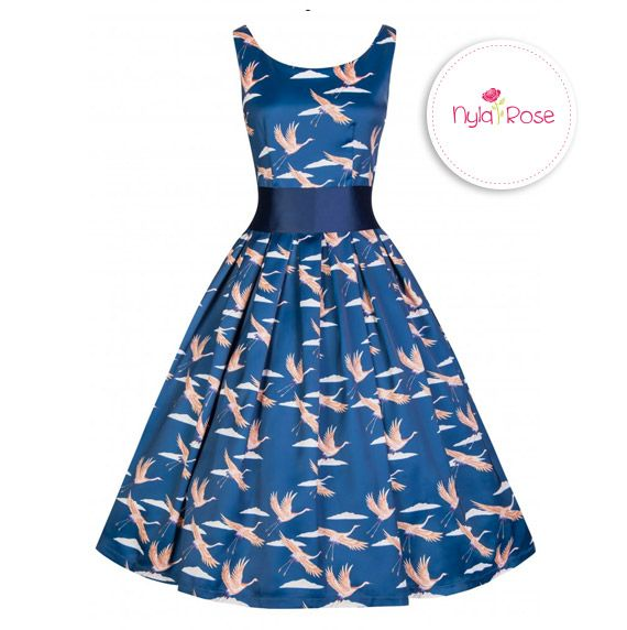 Lindy Bop Blue Bird Lana Dress £36 <3 nyla-rose.com