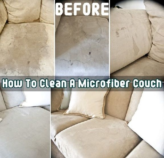 How to clean a microfiber couch. I haven't tried it, but thought it would be good to have on hand.