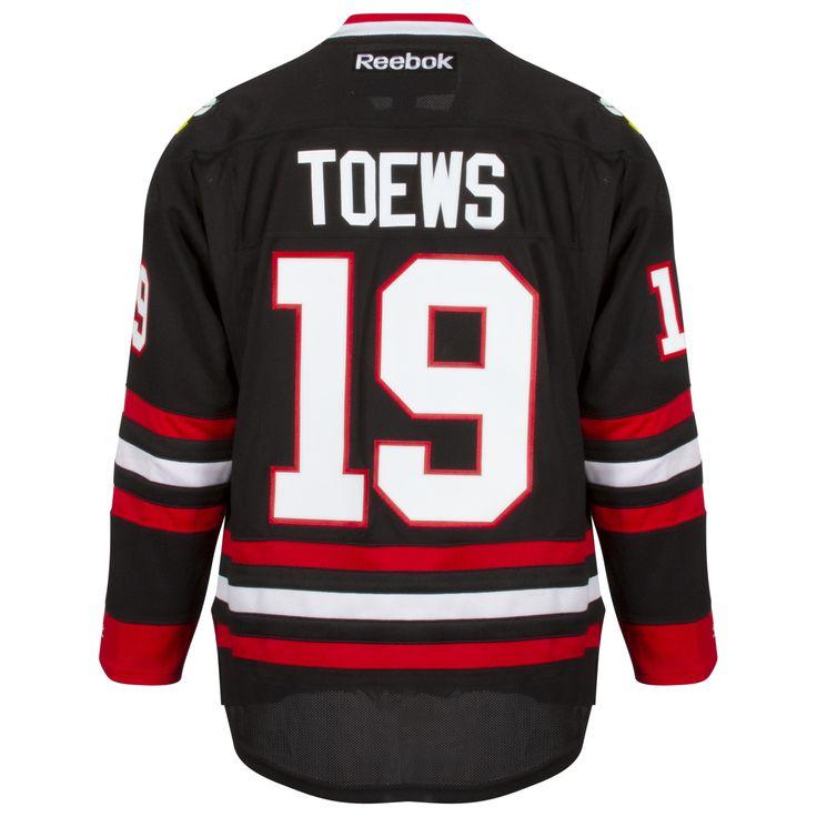Chicago Blackhawks Mens Black Alternate Jonathan Toews Premier Jersey by Reebok #Chicago #blackhawks #ChicagoBlackhawks