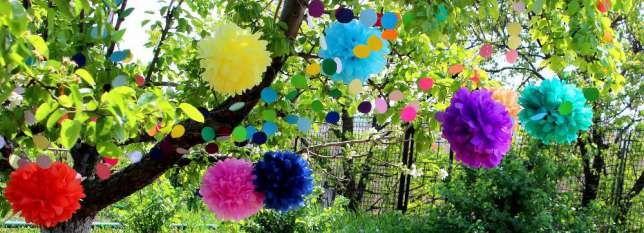 бумажные помпоны, бумажные шары, гирлянды, украшение, декор Днепропетровск…