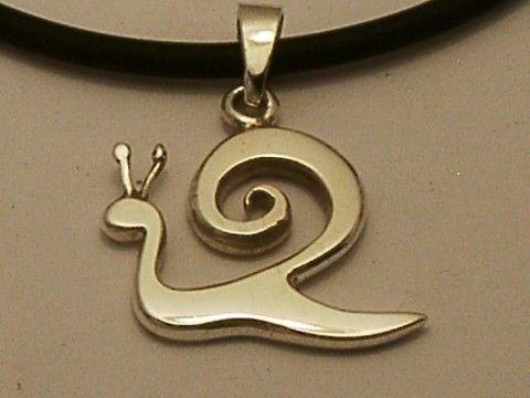 Silver Snail Pendant, Kapolcs Pendant, Silver Necklace, Silver Jewelry