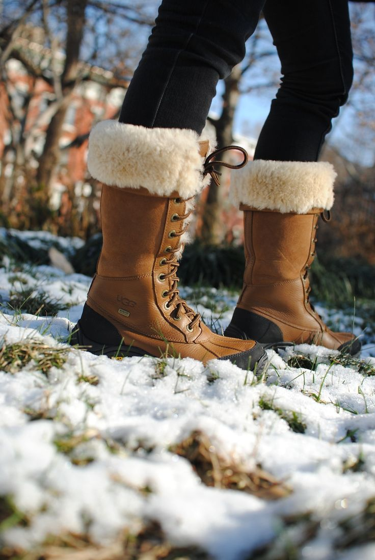 UGG Australia's waterproof full-grain leather sheepskin snow boot for women - the Adirondack Tall