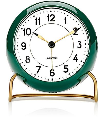 """We Adore: The Arne Jacobsen """"Station"""" Table Alarm Clock from Carl Mertens at…"""