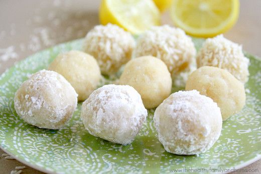 Raw Vegan Lemon Meltaway Balls #justeatrealfood #thehealthyfamilyandhome
