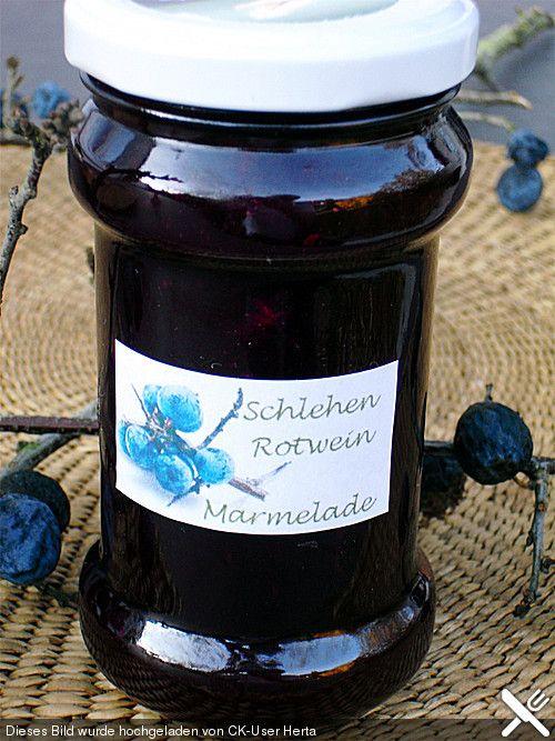 Schlehen-Rotwein Marmelade