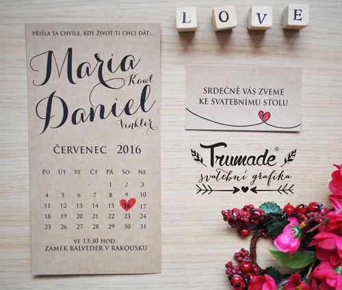 Přírodní svatební oznámení - kalendář / Zboží prodejce Trumade | Fler.cz