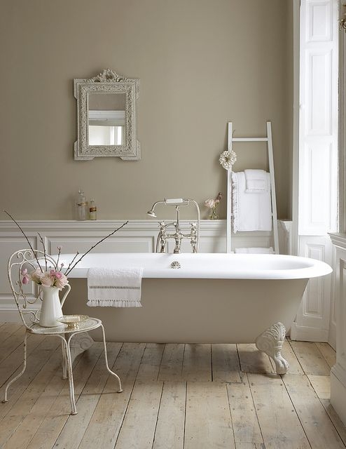 Beautiful bathroom. Love the colours. From www.littlegreene.com #bathroom #design