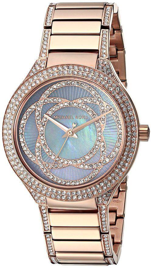 http://www.newtrendsclothing.com/category/michael-kors-watch/ Michael Kors Women's 'Kerry' Quartz Stainless Steel Casual Watch