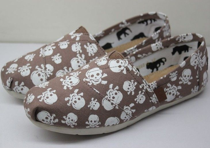 Cheap Toms Women Skeleton brown Bottom Outlet Sale