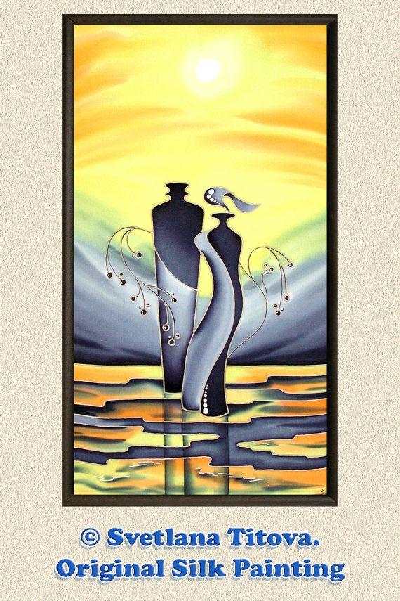 Original Silk PaintingGift IdeaBirthday от MagicSilkPainting