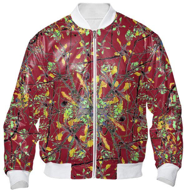 #Oriental floral print #bomberjacket by #dflcprints