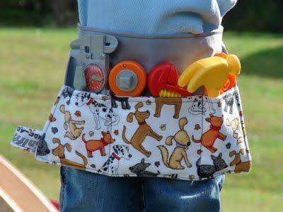 Pocket belt for all the stuff the midget carries around all the time. Looks like a great potential gift for a 3 year old.