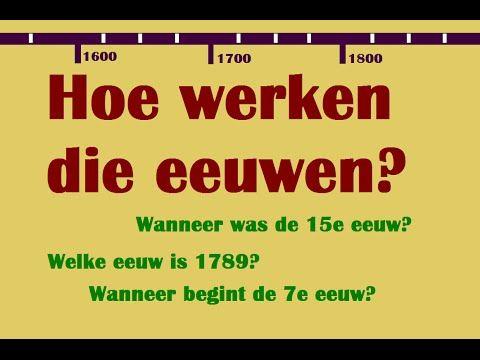 De Tijdbalk: Eeuwen en jaartallen: Hoe werken die eeuwen??? - YouTube