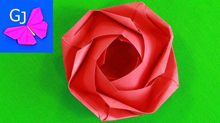 Изысканная оригами Роза - цветок из бумаги, знак особого отношения и любви! Этот цветок для прекрасного настроения в подарок для Мамы или на 8 Марта! Понрави...