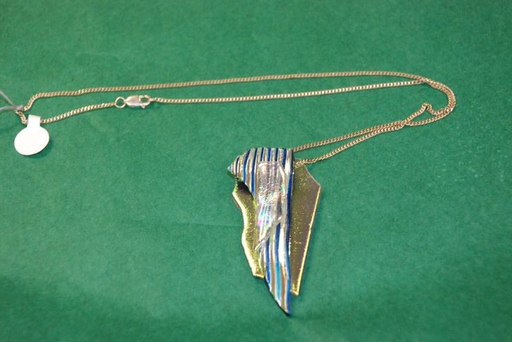 abstract glass pendant necklace by Carson Merriefield