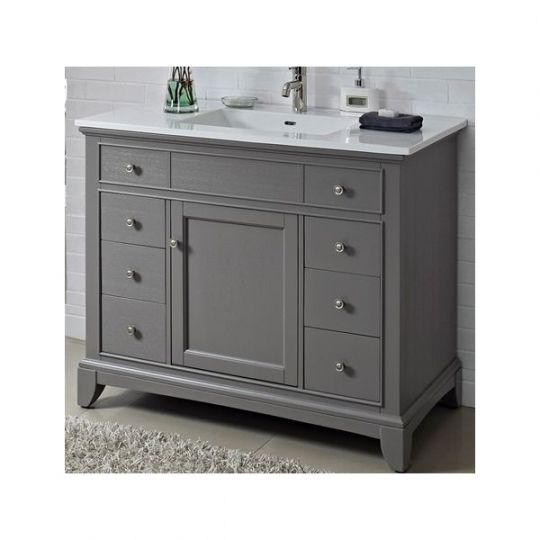 Fairmont Designs 1504 V42 Smithfield Medium Gray Bathroom Vanity 42 X 21 1 2 X 34 1 2 42 Inch