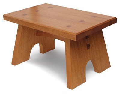 Download free plans for this Sturdy Footstool from FineWoodworking Magazine