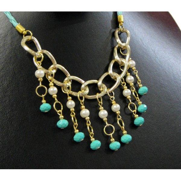 collares de moda 2014 de perlas de colores - Buscar con Google