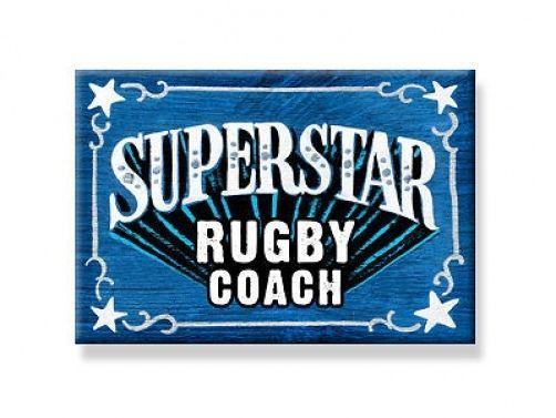 RUGBY COACH MAGNET Sport  All jobs available Teacher #DecorativeGreetingsInc #GIFTMAGNET