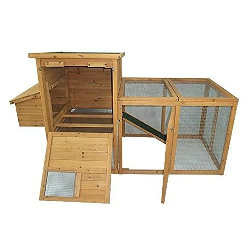 Deluxe Wooden Chicken Coop Hen House With Outdoor Run   Keep Your Chickens  Happy And Healthy With The Pawhut 72 In. Deluxe Wooden Chicken Coop Hen  House ...