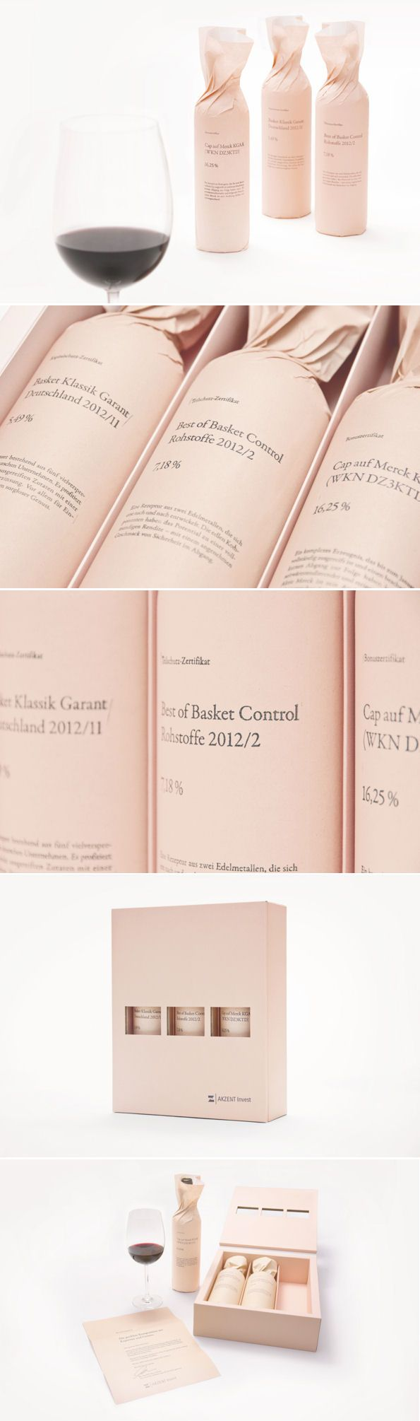 wine packaging in blush
