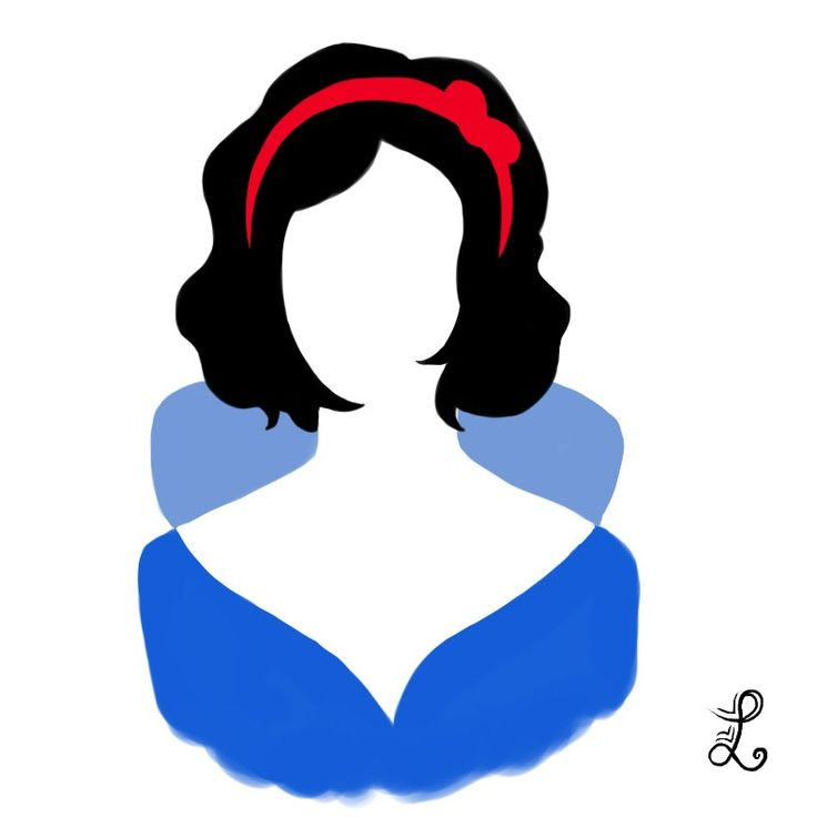 Snow White Silhouette - Would love to do something with this come Halloween or even on our Dress Like a Character Day.