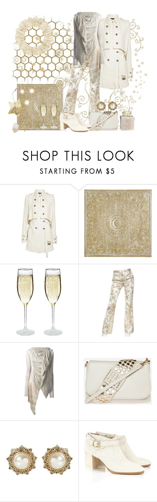 """ROCHAS Damask Trousers/IF SIX WAS NINE Top"" by skpg ❤ liked on Polyvore featuring Balmain, Pier 1 Imports, Rochas, If Six Was Nine and Zoe Lee"
