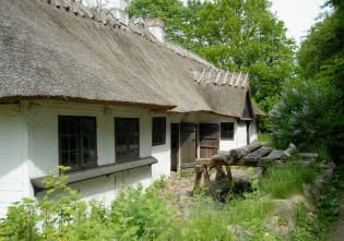 Hjulmagerhus fra Kalvehave - Frilandsmuseet - Nationalmuseet