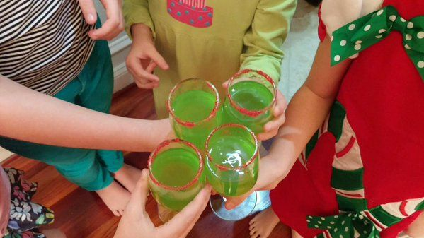 We made #GrinchPunch this year! What are some of your fun #holiday traditions?
